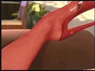 Jayna fucking in red fishnet st