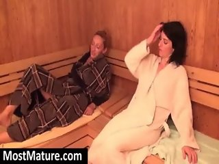 mature ladies naked in sauna
