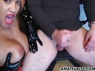 Very busty amateur Milf domination home fuck
