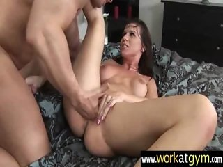 Hot chick show the guys a true SEX workout 7
