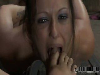 Girl is forced to example turd