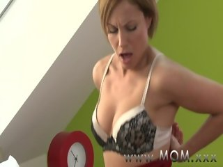 MOM Brunette MILF gives her man a reason to stay awake