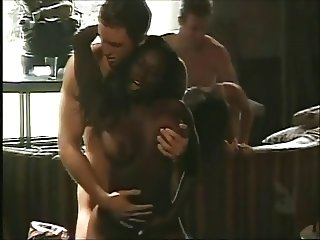Two couples fuck on the sofa and table (from 7 lives xposed)