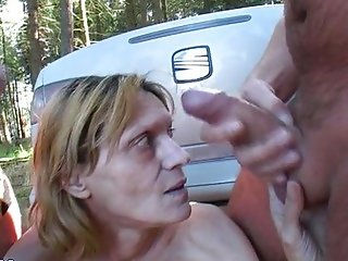Ugly mature Pira outdoor