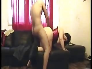 Fucked doggy style on the couch!