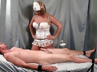 Nurse Handjob: Strapped Down
