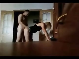 Blonde babe gets fucked on hidden cam