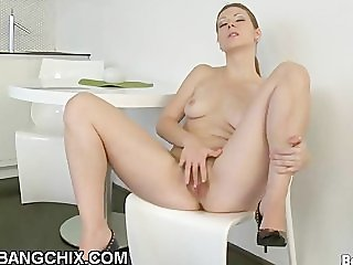 Naughty Big Ass Hairy Chick Spreading Pussy