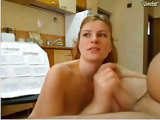 Chaturbate - hot blonde spreading pussy licking cock