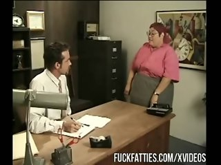 Huge Fat Secretary Gets Fucked By Boss