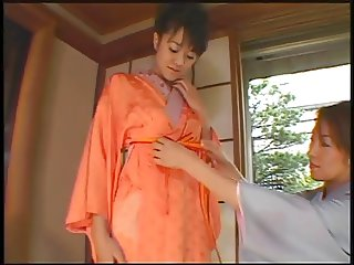 Two Asian whores and two customers enjoy nipple licking, dick sucking and fuckin