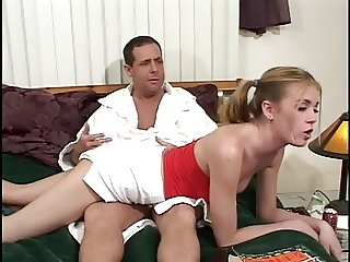 Naughty Step-Daughter Spanked & Fucked!