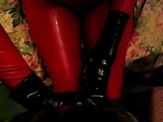 Anna milking rubber cock