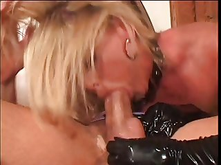 Horny hottie goes for a big hard cock