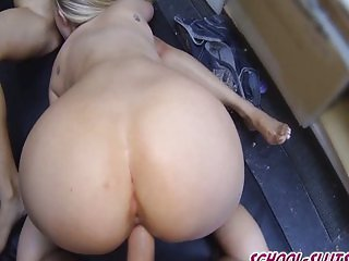 College Hotties Fucking in the Back Room