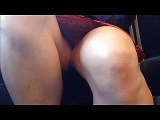 Legs on upskirt in train 9