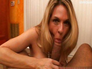 Natural tits slut penis sucking