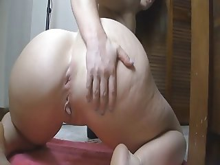 PAWG Rides Anal Toy