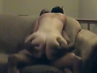 Big ass housewife riding her black lover