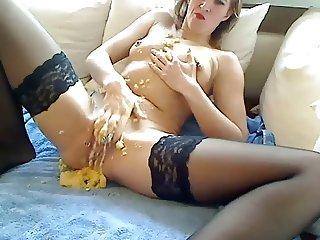 Banana Insertion And Fisting Play