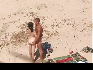 Horny Couple Fucking on Beach BVR