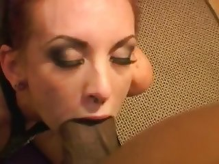 Short hair white girl sucking BBC