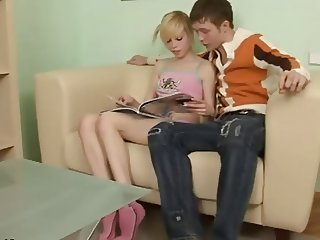Russian blonde teen Alisa