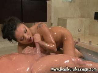 Dirty asian fetish slut gets a cumshot