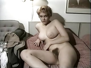 Vintage Amateur Shows Her Big Tits And Hairy Snatch
