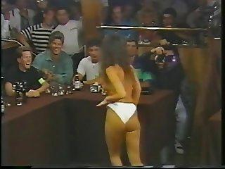 my wife dancing at my company's bikini contest