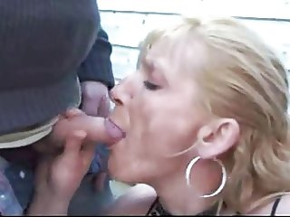 french hooker takes a lot of cum