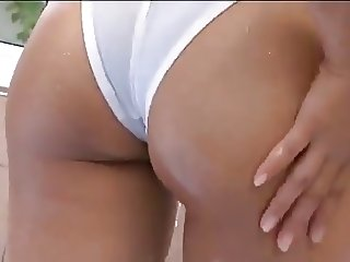 softcore asian panty swimsuit bath tease
