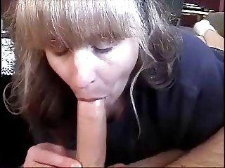 Amateur Wife Blowjob Swallows My Big Cock Cum Hot Blonde