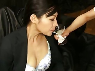 Sperm fetish japanese bukkake