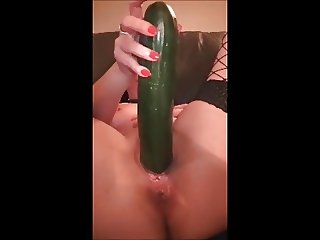 Cucumber Loving Milf