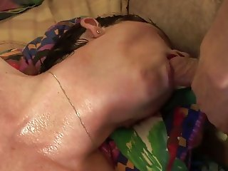 Mature Amateur Granny Gets Spit Roasted