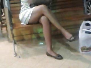 Sexy legs shoe play