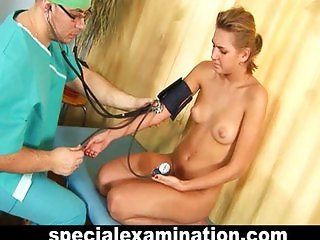 Gyno examination for sweet blonde teen