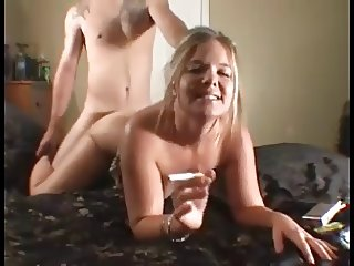 Look into the Camera #20 (Blonde Cougar Smoking Doggystyle)