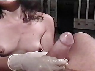 Latex Gloves And Lube Handjob