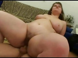 Fat BBW friend with nice tits sucking and riding cock. P3