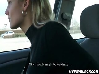 Paying Holly For A Blowjob In A Car