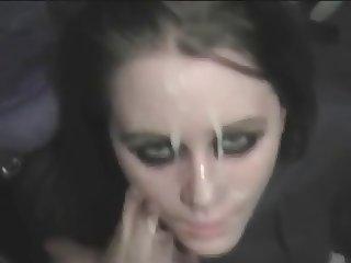 shy amateur teen gives bf blowjob and recieves facial
