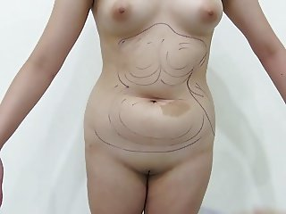 Experiment of a japanese female body HD