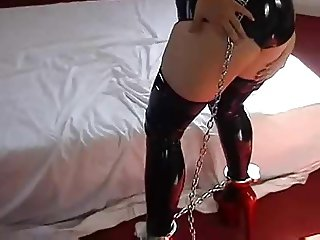 Latex and self bondage