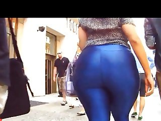 BBW Donk Walk in Blue Spandex