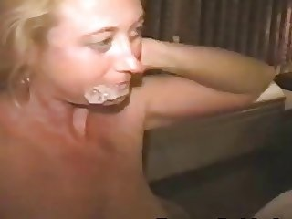 Neighbor lets us cum on his wife