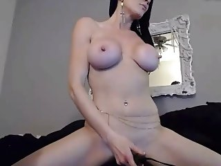 cute milf fisting herself