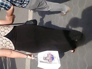 White girl showing panties