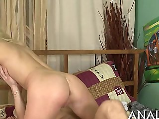 Deep and raunchy anal penetration